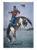 Bronco-Buster Giclee Print by Frederic Sackrider Remington