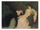 Intimacy Giclee Print by Edmond-francois Aman-jean