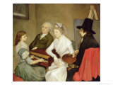 Self Portrait with Family Giclee Print by Georg Ludwig Eckhardt