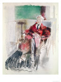 Portrait of George Moore Giclee Print by Henry Tonks