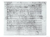 Autograph Score For the Lied Des Sangers Habe by Franz Schubert Giclee Print