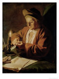 The Elderly Writer Giclee Print by Paul Ponce Antoine Robert