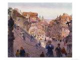 Nerudova Ulice, Prague, 1909 Giclee Print by Heinrich Tomec