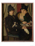 Women in a Cafe, c.1924 Giclee Print by Pietro Marussig