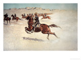 Buffalo Soldiers in Pursuit Giclee Print by Frederic Sackrider Remington