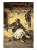 Albanian Sentinel Resting Giclee Print by Paul Jovanovic