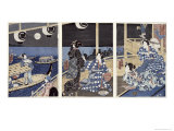 Autumn Moon over Fukagawa Giclee Print by Utagawa Sadahide