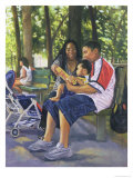 Family in the Park, 1999 Giclee Print by Colin Bootman