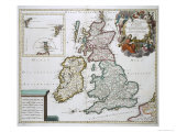 Map of Britain and Ireland Giclee Print by Gerard Valck