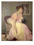 Portrait of a Young Woman Giclee Print by Edmond-francois Aman-jean