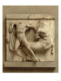 Lapith Killing a Centaur, Metope XXVII from the South Side of the Parthenon, 447-432 BC Giclee Print