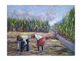 Sugarcane Harvest, 1986 Giclee Print by Carlton Murrell