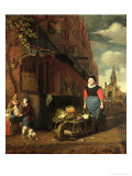 Dutch Genre Scene, 1668 Giclee Print by Michiel Van Musscher