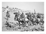 Texas Rangers Attacking a Comanche Village, 1896 Giclee Print by Frederic Sackrider Remington