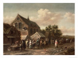 Poultry Market by a Church Giclee Print by Barend Gael Or Gaal