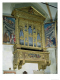 View of Church Organ, c.1590 Giclee Print by Felice Brusasorci
