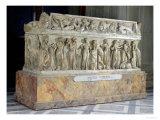 Sarcophagus with Frieze of the Nine Muses, c.160 Ad Giclee Print by  Roman