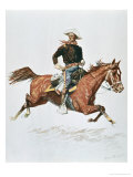 Us Cavalry Officer in Campaign Dress of the 1870S Giclee Print by Frederic Sackrider Remington