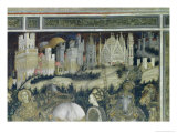 St. George and the Princess of Trebizond, Detail of the City in the Background, c.1433-38 Giclée-tryk af Antonio Pisani Pisanello