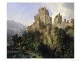 Eltz Castle Giclee Print by Domenico II Quaglio