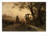 Returning Shepherd Giclee Print by Karl Schlesinger