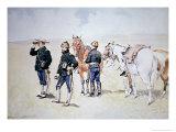 Cavalry Scouts, c.1890 Giclee-trykk av Frederic Sackrider Remington