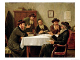 Jewish Scholars Debating Giclee Print by Josef Johann Suss