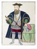 Portrait of Vasco de Gama Giclee Print by Pedro Barretto De Resende