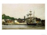 The Harbour at Honfleur Giclee Print by Karl Pierre Daubigny