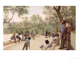 The Boules Players, 1882 Giclee Print by Ruggero Focardi