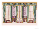 Drawing Room Drapery Giclee Print by Richard Bridgens