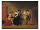 Backgammon Players Giclee Print by Christoffel Jacobsz Van Der Lamen