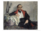 Portrait of Michail Lermontov Giclee Print by Nikolai Pavlovich Ulyanov