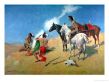Smoke Signals Giclee Print by Frederic Sackrider Remington