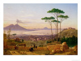 Bay of Naples Giclee Print by Andrea Da Crescio