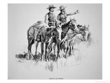 Texas Rangers, Published in 'Harper's Monthly', 1896 Giclee Print by Frederic Sackrider Remington