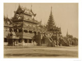 The Hman Kyaung or the Glass Monastery, Burma, c.1890 Giclee Print by Felice Beato
