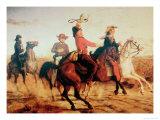 Terry's Texas Rangers, c.1845 Giclee Print by Carl Von Iwonski