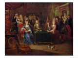 The Card Players, 1699 Giclee Print by P. Bergaigne