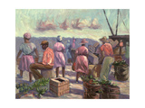 The Marketplace, 1988 Giclee Print by Carlton Murrell