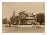 The Nan-U Human-Se, Shwe-Kyaung in the Palace of Mandalay, Burma, Late 19th Century Giclee Print by Felice Beato