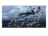 Lancaster Bomber over Germany Giclee Print
