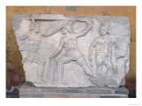 Relief Depicting Gladiators in Combat Giclee Print by  Roman
