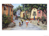 Village Life Giclee Print by Victor Collector