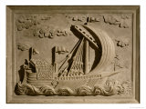 Detail of a Venetian Warship from the Mausoleum of Girolamo Michiel, c.1558-59 Giclee Print by Francesco Segala