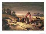 The Return of the Shepherd Giclee Print by Gabriel-alexandre Descamps