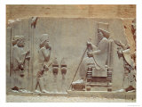 Median Officer Paying Homage to King Darius I from the Treasury, c.515 BC Giclee Print by  Achaemenid