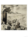 Moses and the Red Sea Giclee Print by Clive Uptton