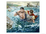 St Paul: The Great Shipwreck Giclee Print by Clive Uptton