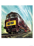 Diesel Train Giclee Print by Wilf Hardy